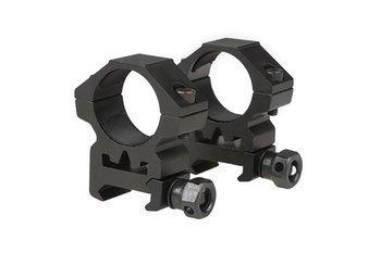 Dwuczęściowy montaż optyki 25mm na szynę RIS (niski)