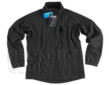 Polar Alpha Grid Fleece Jacket Black - OUTLET