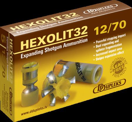 Amunicja 12/70 Ddupleks Hexolit 32g (5 szt.)