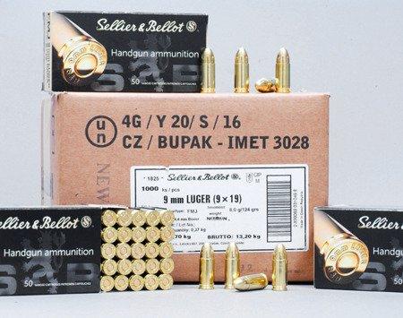 Amunicja Sellier&Bellot 9x19mm FMJ 115gr (1000 szt.)