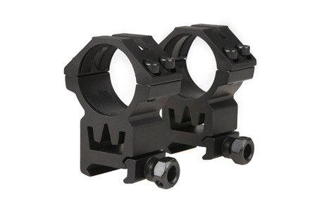 Dwuczęściowy montaż optyki 30mm na szynę RIS (wysoki)