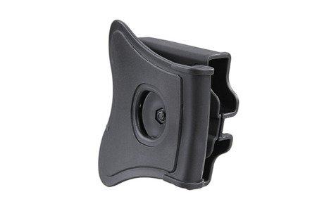 Ładownica na 2 magazynki pistoletowe (uniwersalna) - czarna