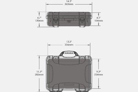 Skrzynia transportowa Nanuk 910 DJI™ OSMO - grafitowa