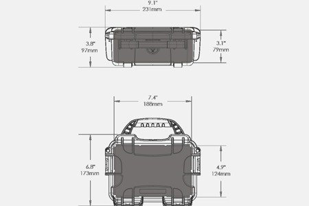 Skrzynia transportowa Nanuk 903 limonkowa - pianka modułowa wyrywana