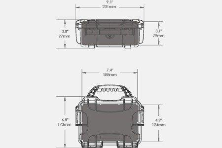 Skrzynia transportowa Nanuk 903 srebrna - pianka modułowa wyrywana