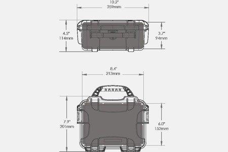 Skrzynia transportowa Nanuk 904 srebrna - pianka modułowa wyrywana