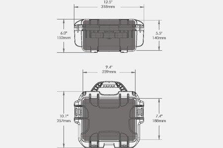 Skrzynia transportowa Nanuk 905 srebrna - wkład modułowy FOTO