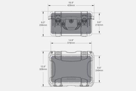 Skrzynia transportowa Nanuk 918 oliwkowa - bez wypełnienia