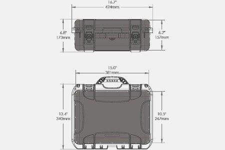 Skrzynia transportowa Nanuk 920 pomarańczowa - wkład modułowy FOTO