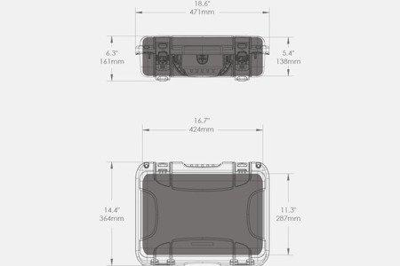 Skrzynia transportowa Nanuk 923 grafitowa - wkład modułowy FOTO
