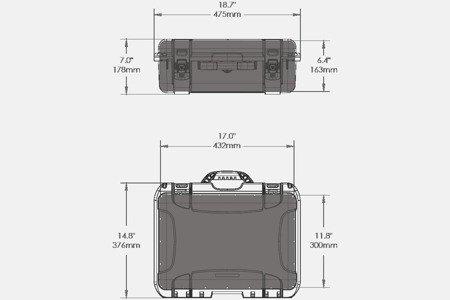 Skrzynia transportowa Nanuk 925 pomarańczowa - pianka modułowa wyrywana