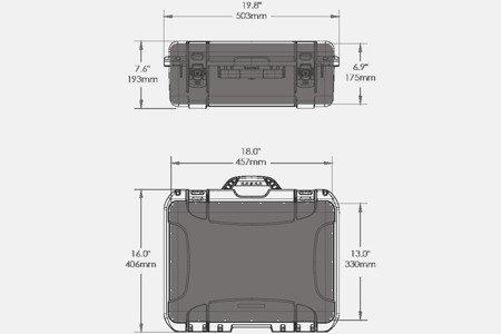 Skrzynia transportowa Nanuk 930 grafitowa - pianka modułowa wyrywana