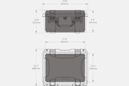 Skrzynia transportowa Nanuk 933 DJI™ Phantom 4 oliwkowa