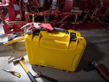 Skrzynia transportowa Nanuk 933 żółta - pianka modułowa wyrywana