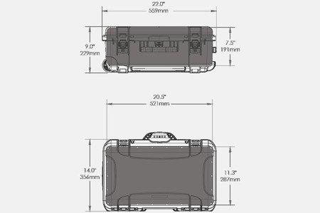 Skrzynia transportowa Nanuk 935 oliwkowa - pianka modułowa wyrywana