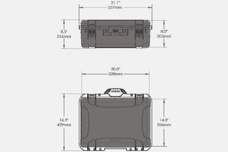 Skrzynia transportowa Nanuk 940 grafitowa - wkład modułowy FOTO