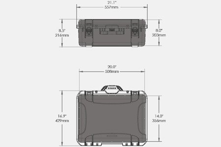 Skrzynia transportowa Nanuk 940 oliwkowa - bez wypełnienia