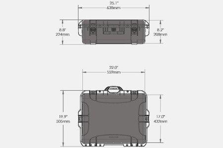 Skrzynia transportowa Nanuk 945 srebrna - wkład modułowy FOTO