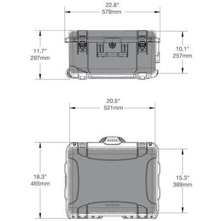 Skrzynia transportowa Nanuk 950 oliwkowa - wkład modułowy FOTO