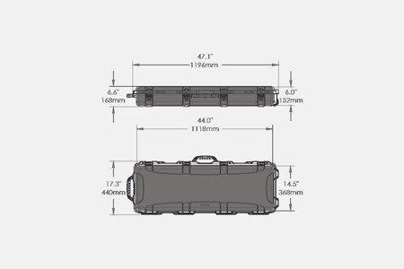Skrzynia transportowa Nanuk 990 Czarny - pianka AR-15