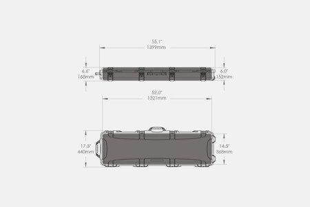 Skrzynia transportowa Nanuk 995 Czarna - pianka na zamówienie