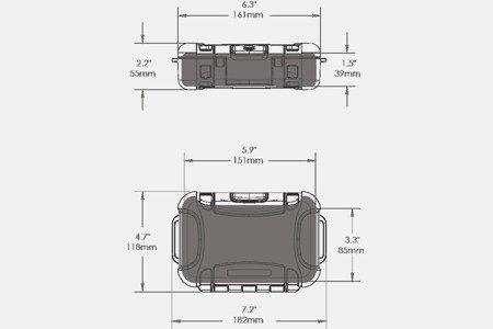Skrzynia transportowa Nanuk Nano 320 transparentna