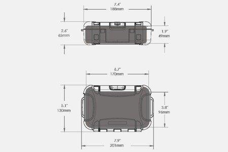 Skrzynia transportowa Nanuk Nano 330 transparentna