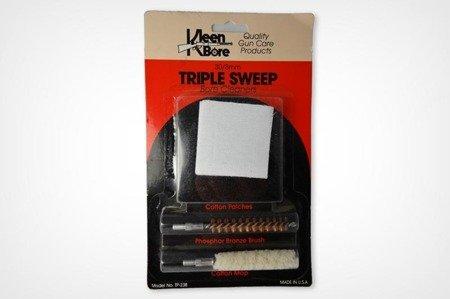 Zestaw 3 w 1: szczotka z fosforobrązu, bawełniany mop oraz bawełniane flanele - .243/.25/6mm - KleenBore